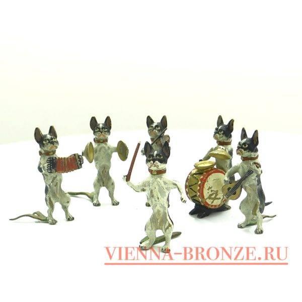 """Купить венскую бронзу """"Оркестр из собак"""""""