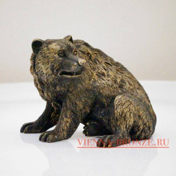"""Купить венскую бронзу """"Бдительный медведь """""""
