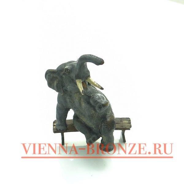 """Купить венскую бронзу """"Смеющийся слон"""""""
